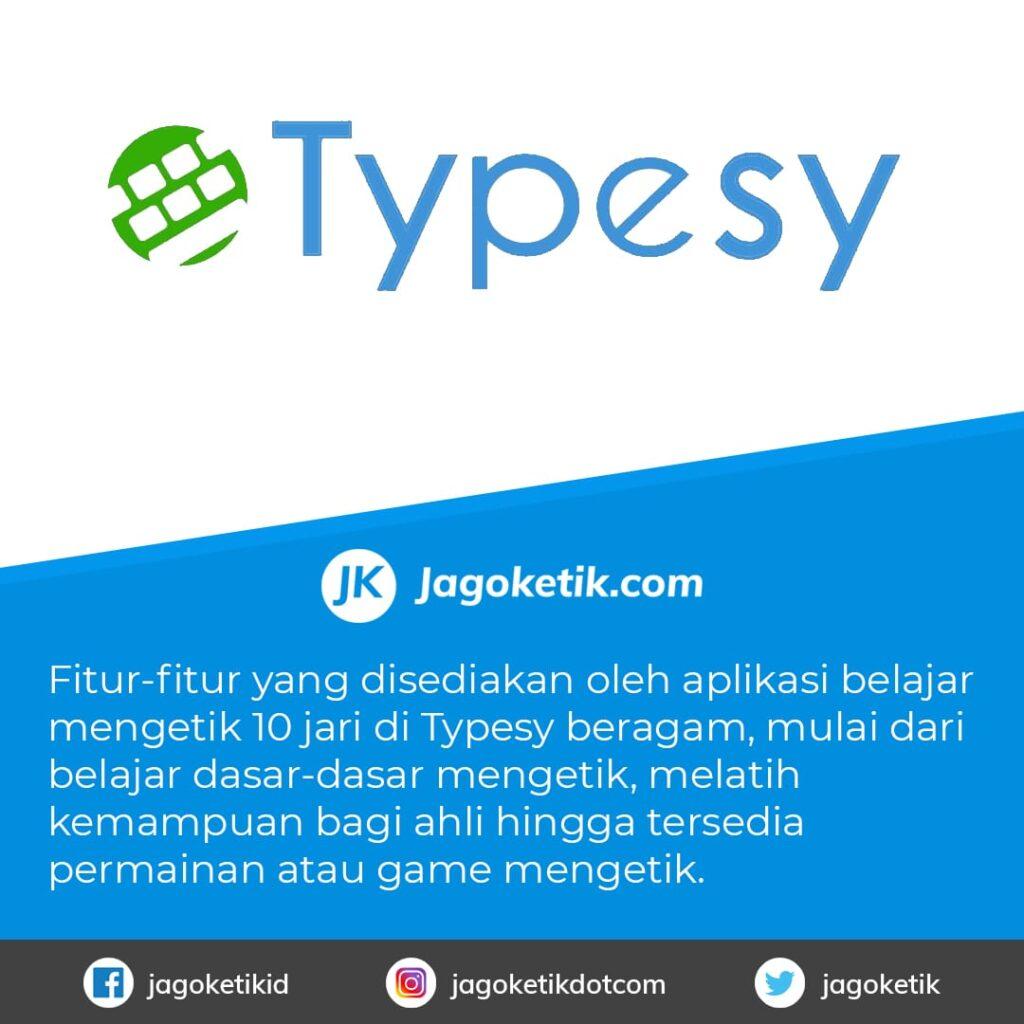 Download Typesy aplikasi untuk Belajar Mengetik 10 Jari