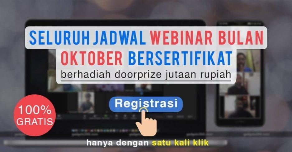 Seluruh Jadwal Webinar Oktober Bersertifikat, Gratis!