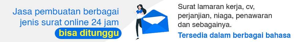 Jasa pembuatan surat online
