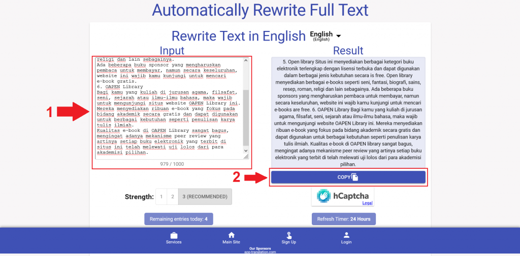 Cara menurunkan Plagiarisme Turnitin dengan Cepat menggunakan Smodin 2