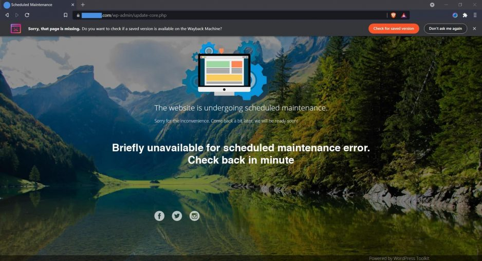 "Cara Mudah Mengatasi ""The website is undergoing scheduled maintenance"" di WordPress"